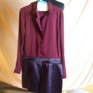 Victoria Beckham plum colored dress size 8