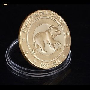 New Chicago Cubs 24Kt Gold Plated Coin