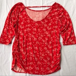 Tops - Beautiful Red Maternity Top