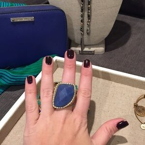 Jessica Simpson Cobalt Blue Statement Ring