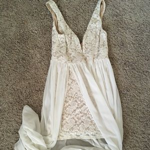 Lulu*s Ark & Co Ivory Maxi Dress