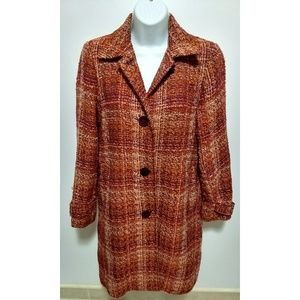 Vintage Harve Benard long orange woolen coat