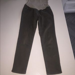 Pea in the pod gray skinny chino pants m stretch