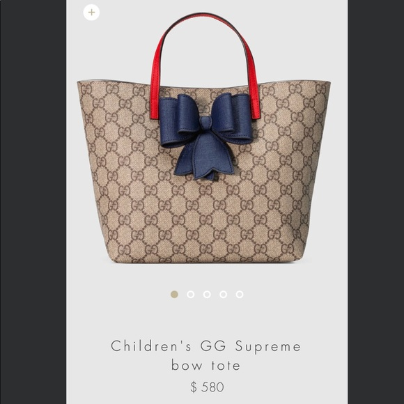 Gucci Handbags - Authentic Gucci Children s GG Supreme Bow Tote e20347773e941