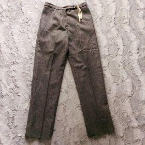 Vintage ILGWU grey wool creased 80s 90s trousers