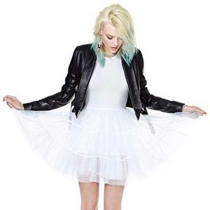 UNIF Dresses - UNIF white frill mesh petticoat tutu dress