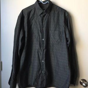 Ermenegildo Zegna Checker-Striped Cotton Shirt