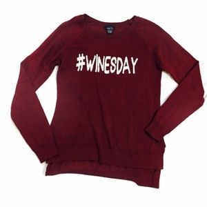 #WINESDAY Sweater Maroon Size Medium