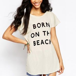 Wildfox born on the beach cover up