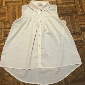 Monteau Button Down Polyester Hi Lo Shirt Size S