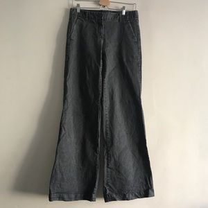 Theory Grey Wide Leg Denim 6
