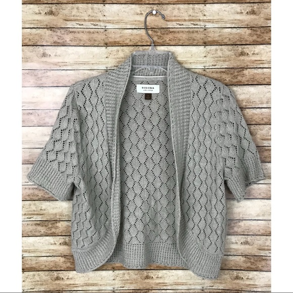 36% off Sonoma Sweaters - Sonoma Tan Short Sleeve Cardigan from ...