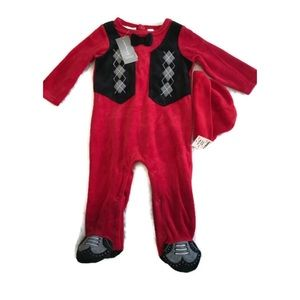 First impressions baby boy christmas romper 2pc