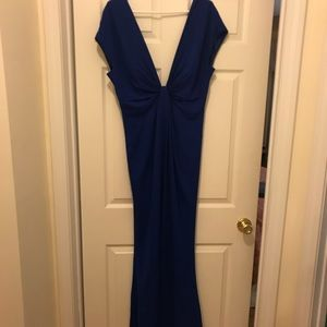 Dresses & Skirts - Jill Size 14 Low Cut Front and Back Blue Dress NWT