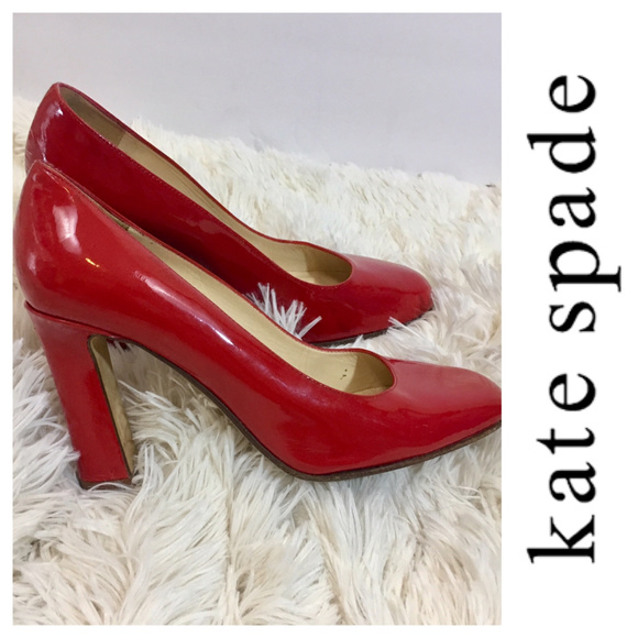 bd8cb717eae3 kate spade Shoes - Kate Spade red patent leather pumps block heels 6