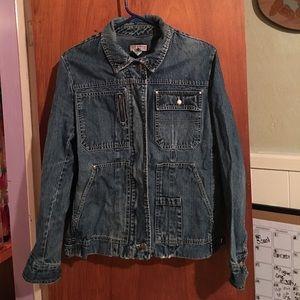 Caribbean Joe Jean jacket sz L