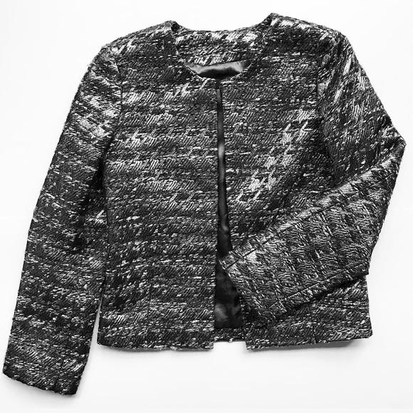J. Crew Jackets & Blazers - J. Crew Collection Houndstooth Metallic Jacket