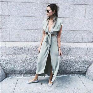 Reformation westlake wrap maxi midi dress in xs