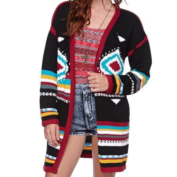 fd7543d38 Billabong Sweaters - Billabong Annabelle Aztec Knit Cardigan Sweater