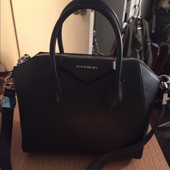 Givenchy Handbags - Grained Goatskin Antigona Small Duffel Black Tote c974847febf16