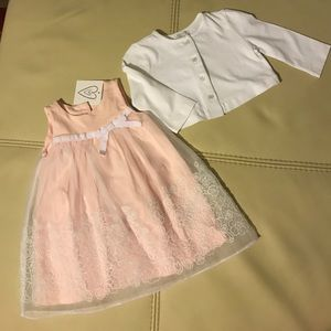 Other - Dress with matching white sweater