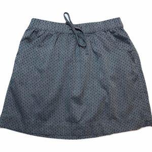 Merona gray skirt with blue polka dots pockets