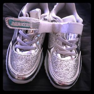 Other - Brand new silver sparkle LED light up shoes