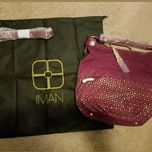 Iman World of Global Chic Purse - Suede - NWT