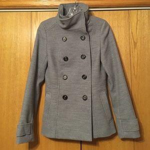 H&M Jackets & Coats - H&M Grey Button Up Pea Coat