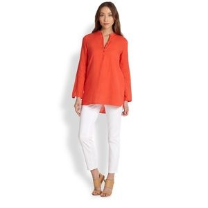 Eileen Fisher Orange Organiclinen Tunic SM