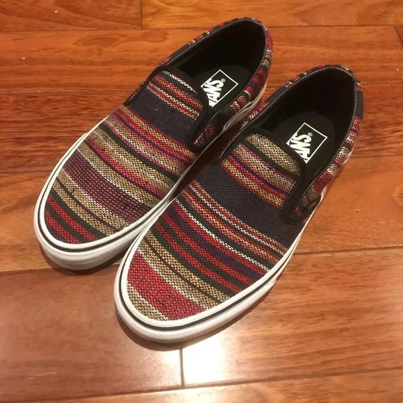 Striped Baja Slip On Vans. M 59fa95a2c6c7957f5300b2d7 6785d46ca
