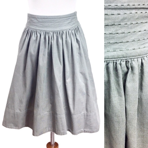 Anthropologie/ Edme & Esyllte Corduroy Sage Skirt