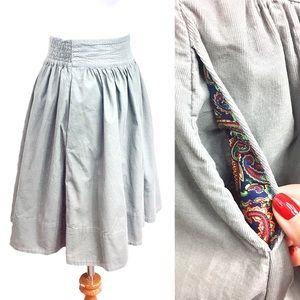 Anthropologie Skirts - Anthropologie/ Edme & Esyllte Corduroy Sage Skirt
