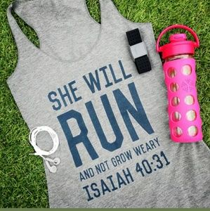 Tops - New Item !! She will run and not grow weary