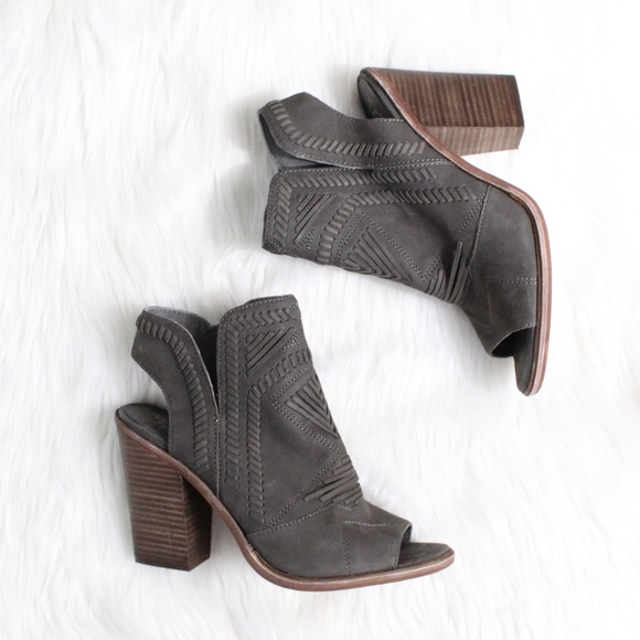 518fe585f1 VINCE CAMUTO Karinta Block Heel Bootie in Grey. M_59faa359eaf030ad2f00ef7f