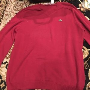 Red Lacoste size 4 sweater