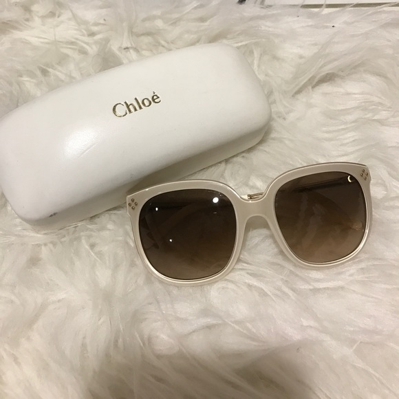 aa7cc441a6b Chloe Accessories - Chloe cream frame sunglasses