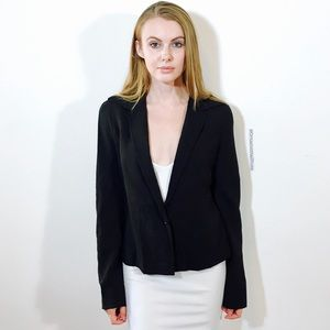 MAX MARA WOOL BLEND LINED DARK BROWN JACKET BLAZER