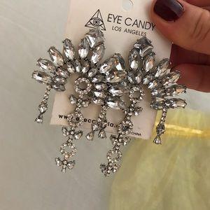 Eye Candy LA Silver, studded earrings.