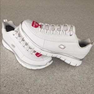 f56199e87d17 ... Skechers Synergy Classic Women s Lace Up Sneakers White   Pink ...