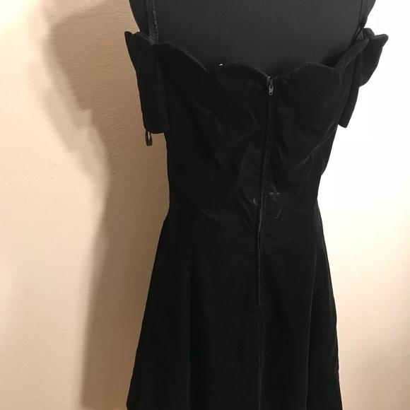 Vintage Dresses - Vintage 90's velvet off the shoulder dress