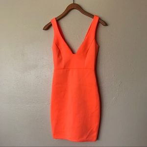 Neon fitted dress