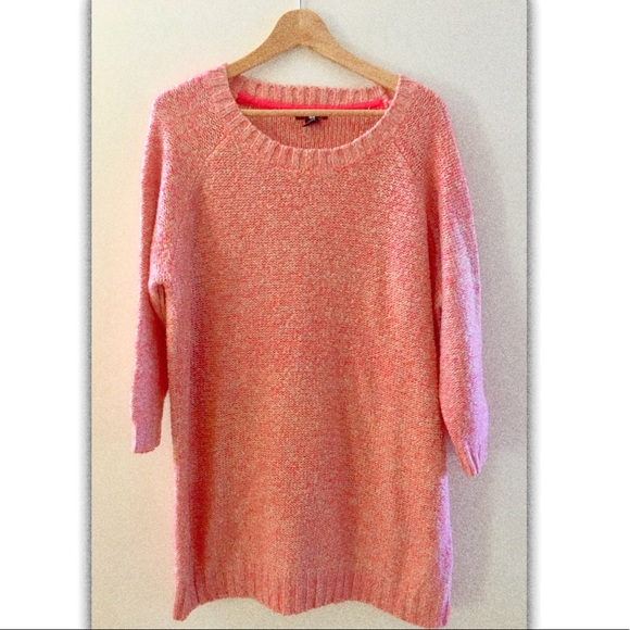 H&M - H&M bright pink and tan cuddly tunic sweater from ! karyn's ...