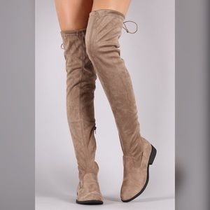 Shoes - Taupe Over The Knee Boots | MAKE A OFFER