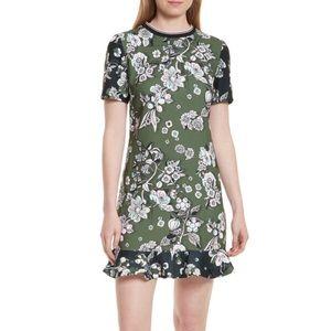 Ted Baker Hoster Floral Print Ruffle Hem Dress