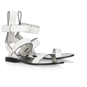 Shoes - Alexander Wang White Leather Sandals