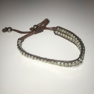 Brown and Metal Bracelet