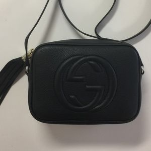 GUCCI SOHO DISCO BLACK LEATHER CROSSBODY BAG