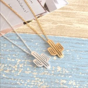 Jewelry - Silver cactus is necklace