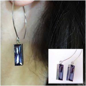 Swarovski Tanzanite Crystal 💜 Open-Hoop Earrings
